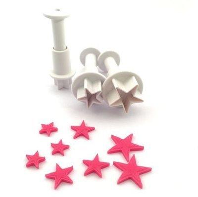 Plunger Cutter Mini Stars 3pcs - Κουπάτ με Εκβολέα Μίνι Αστεράκια - 1.2 + 1.8 + 2