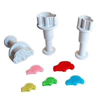 Plunger Cutter Mini Cars 3pcs - Κουπάτ με Εκβολέα Μίνι Αυτοκινητάκια - 3τεμ/πακέτο - 1.4 + 1.9 + 2.4εκ