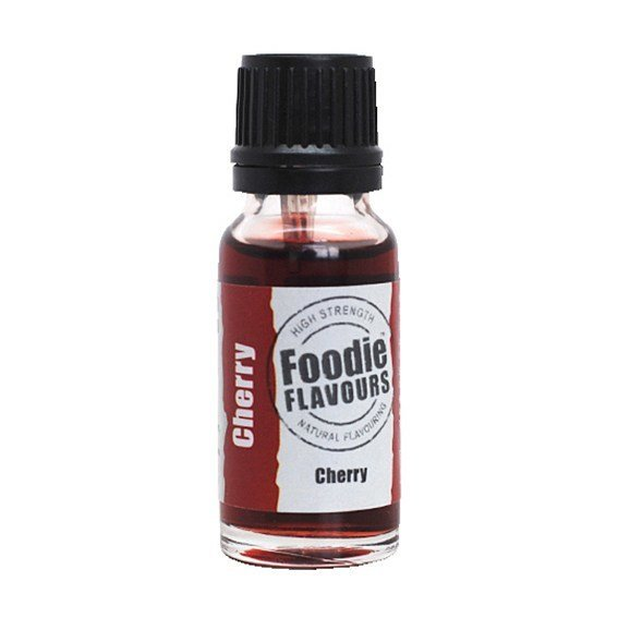 Foodie Flavours Natural CHERRY Flavouring -Φυσικό Άρωμα με Γεύση Κερασιού 15ml