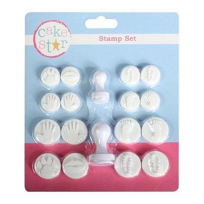 Cake Star - Hand & Footprint Stamper Set 18 pcs - Σφραγίδα Κουπάτ Χεράκια & Πατούσες - 18τεμ