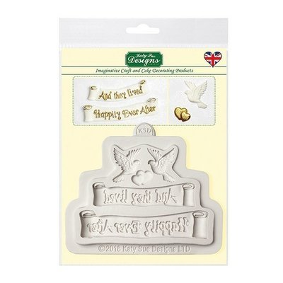SALE!!! Katy Sue Silicone Mould -'HAPPILY EVER AFTER'