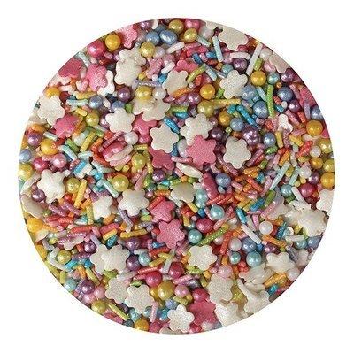 Purple Cupcakes Sprinkle Mix -RAINBOW MIX -1 κιλό Ανάμεικτα Κονφετί/Πέρλες Χρώματα Ουράνιου Τόξου