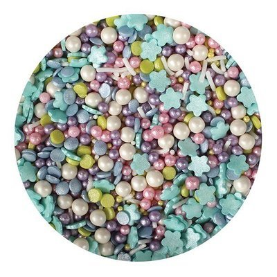 Purple Cupcakes Sprinkle Mix -MERMAID MIX -1 κιλό Ανάμεικτα Κονφετί/Πέρλες Χρώματα της Γοργόνας