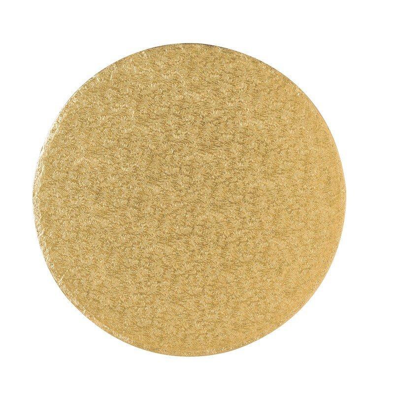 "Cake Drum Round -GOLD 30cm (12"") - Χρυσή Στρογγυλή Βάση - 30εκ - Πάχος 13χιλ"