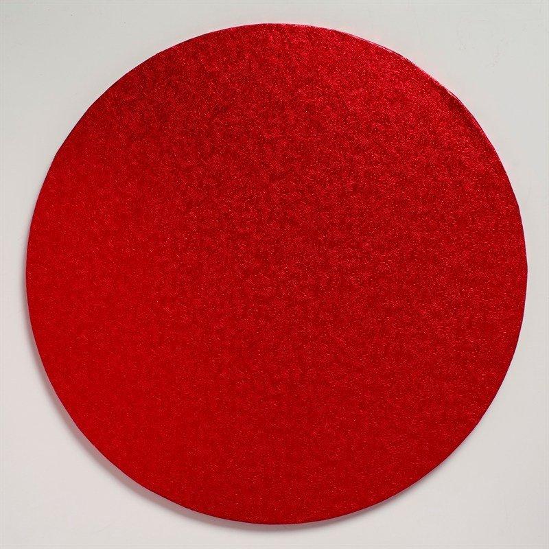 "Cake Drum Round -RED 30cm (12"") - Κόκκινη Στρογγυλή Βάση 30εκ - 13χιλ"