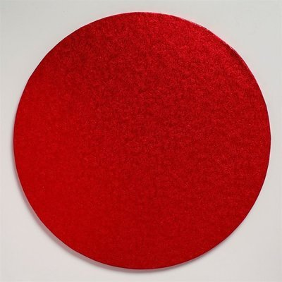 Cake Drum Round -RED 30cm (12
