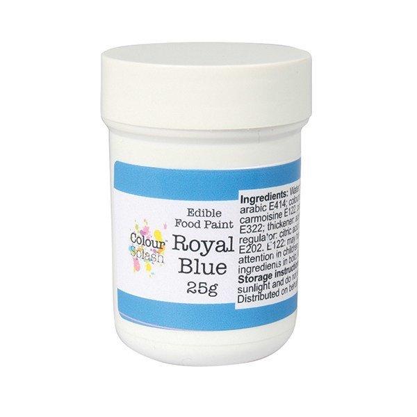 Colour Splash - Edible Paint Matt Royal Blue - Βρώσιμο Χρώμα Ζωγραφικής - Βασιλικό Μπλε Ματ - 25γρ