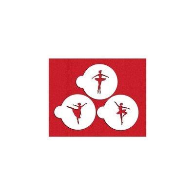 SALE!!! Designer Stencils - Ballerina Cookie Set - Στένσιλ Μπαλαρίνα - 3τεμ/πακέτο - 7.5εκ
