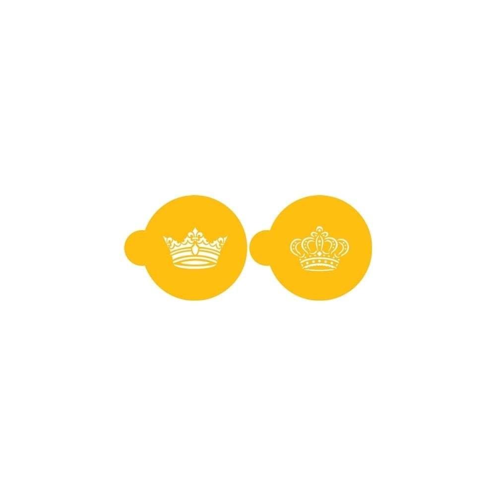 SALE!!! Designer Stencils - Royal Crown Cookie Set of 2 - Στένσιλ Στέμμα - 2τεμ/πακέτο - Περίπου 6εκ