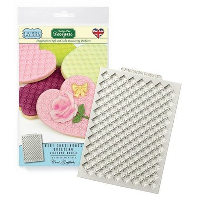 Katy Sue Silicone Mould by Ceri Griffiths CONTINUOUS MINI QUILTING MAT -Καλούπι Μίνι Πατάκι Καπιτονέ