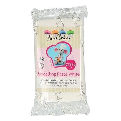 FunCakes Modelling Paste -WHITE -Ζαχαρόπαστα Μοντελισμού -Λευκή 250γρ