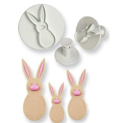 PME Plunger Cutters -Set of 3 -RABBITS/BUNNIES -Κουπάτ με Εκβολέα Κουνέλι/Λαγό 3 τεμ