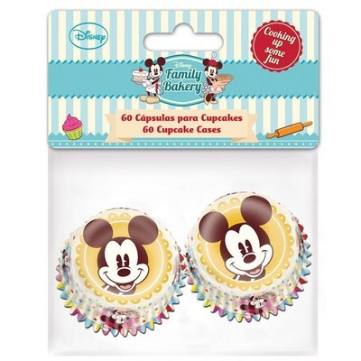 Mini Baking Cases Mickey pack of 60 - Μίνι Θήκες Ψησίματος Μίκι - 60τεμ/πακέτο - 3xΥ2.4εκ