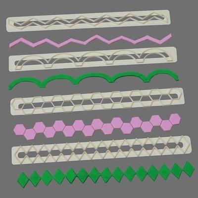 FMM Frill Cutters Set No.17-20 -GEOMETRIC EDGING Κουπάτ με Γεωμετρικό Τελείωμα 4 τεμ