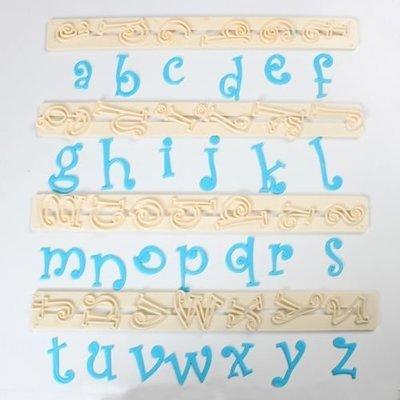 FMM Alphabet Tappit -FUNKY LOWERCASE -Κουπάτ Λατινική Αλφάβητο -Μικρά Γράμματα