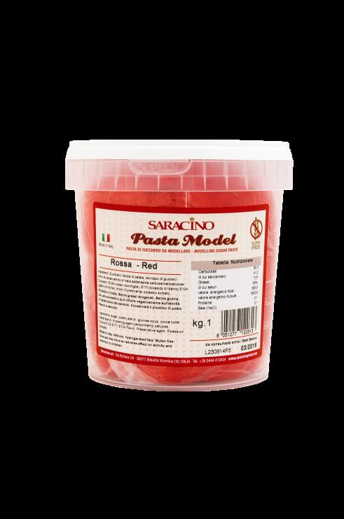 Saracino Modelling Paste 1 kilo -RED -Πάστα Μοντελισμού -Κόκκινο