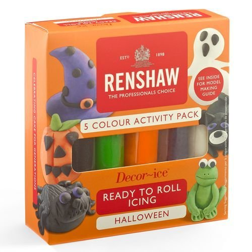 Renshaw Sugarpaste Pro Multipack -Halloween Colours- 5x100g