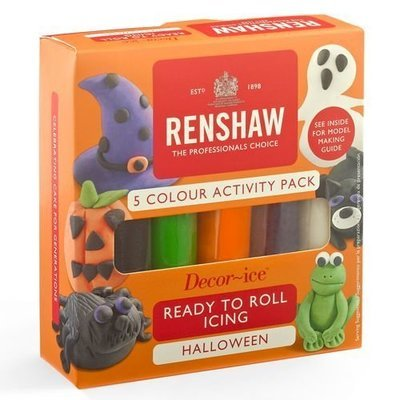Renshaw - Sugarpaste Pro Multipack Halloween Colours - Επαγγελματική Ζαχαρόπαστα 5 Χρωμάτων - 5x100γρ