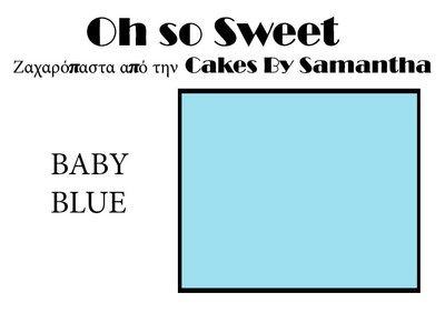 Ζαχαρόπαστα 'Oh So Sweet' από την Cakes By Samantha 5 Κιλά -BABY BLUE