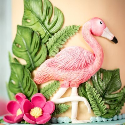 Karen Davies Silicone Mould -TROPICAL BIRDS -Καλούπι Τροπικά Πουλιά