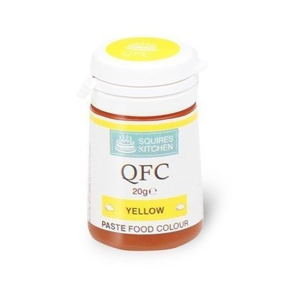 SALE!!! Squires Kitchen Paste Food Colours  -YELLOW -χρώμα πάστα κίτρινο 20γρ ΑΝΑΛΩΣΗ ΚΑΤΑ ΠΡΟΤΙΜΗΣΗ 04/2022