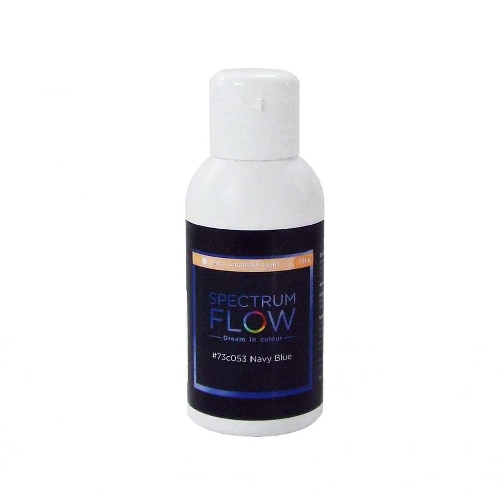 Spectrum Flow Edible Airbrush Paint -MATT NAVY BLUE -Χρώμα Αερογράφου 75ml