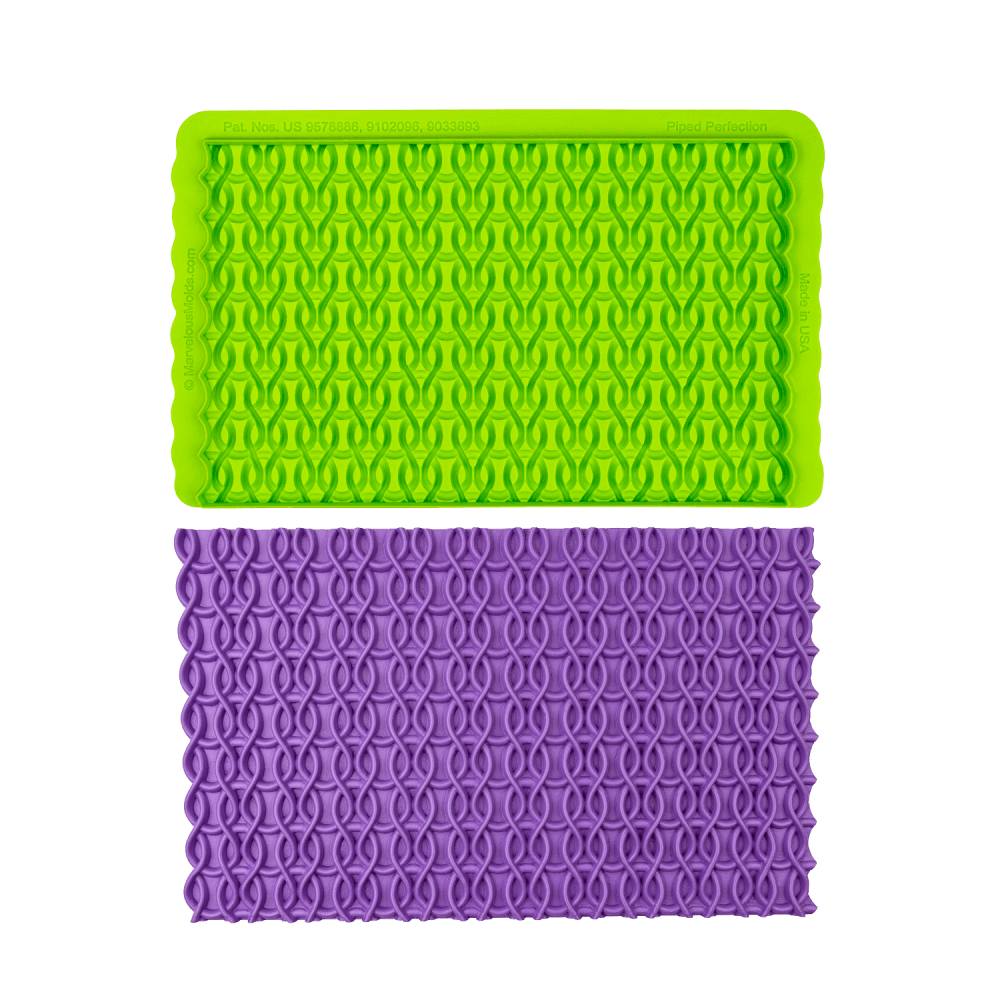Marvelous Molds SIMPRESS Embossing Mat -PIPED PERFECTION -Καλούπι Ανάγλυφο Πατάκι Σωλήνας