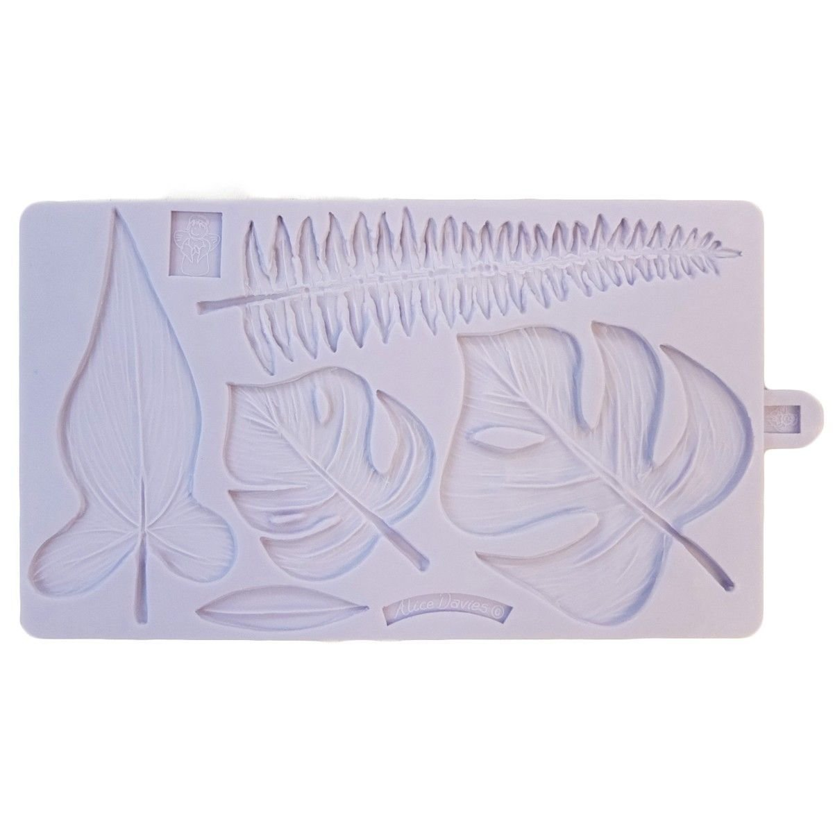 Karen Davies Silicone Mould -TROPICAL LEAVES -Καλούπι Τροπικά Φύλλα