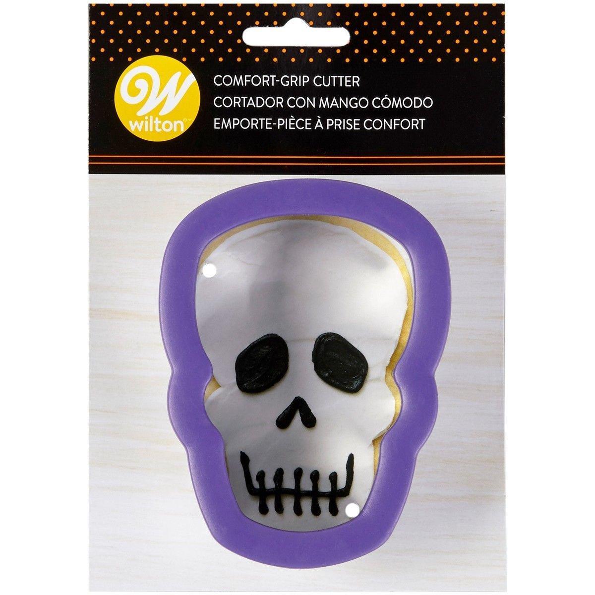 Wilton Halloween Metal Grippy Cutter -SKULL/HEAD -Κουπάτ νεκροκεφαλή με λαβή σιλικόνης 11εκ
