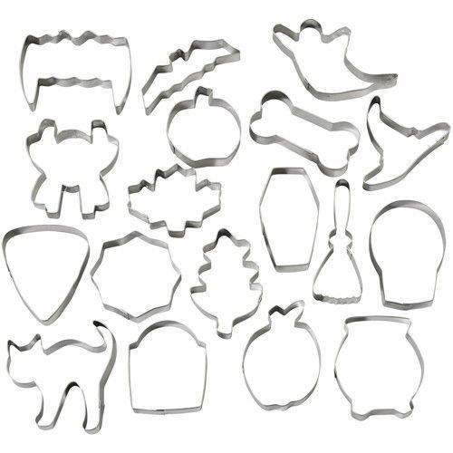Wilton Halloween -Metal Cookie Cutter Set of 18 μεταλλικά κουπάτ με θέμα χαλοουίν 6-9εκ