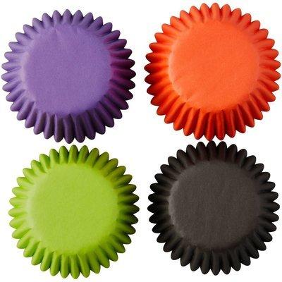 Wilton Mini Baking Cups -Black, Orange, Purple, Green.  Pack of 100 θήκες ψησίματος