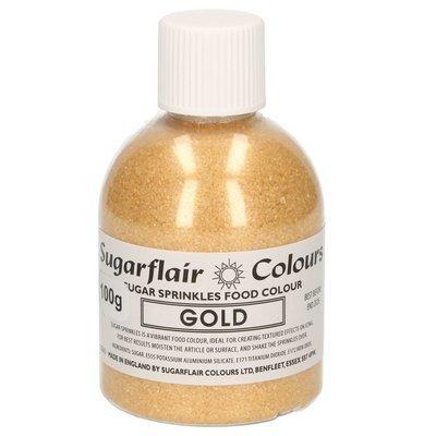 Sugarflair -Sparkling Sugar Sprinkles -GOLD 100g ΖΑΧΑΡΗ -Χρυσή