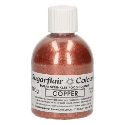 Sugarflair -Sparkling Sugar Sprinkles -Copper 100g ΖΑΧΑΡΗ χάλκινο