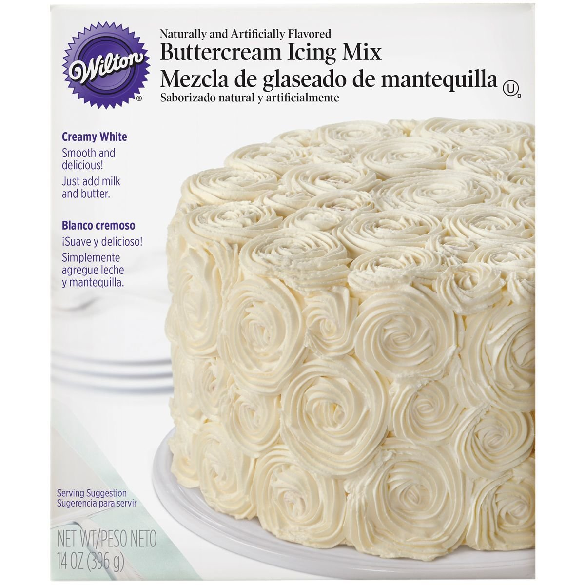 Wilton Creamy White Buttercream Icing Mix 400g λευκή βουτυρόκρεμα