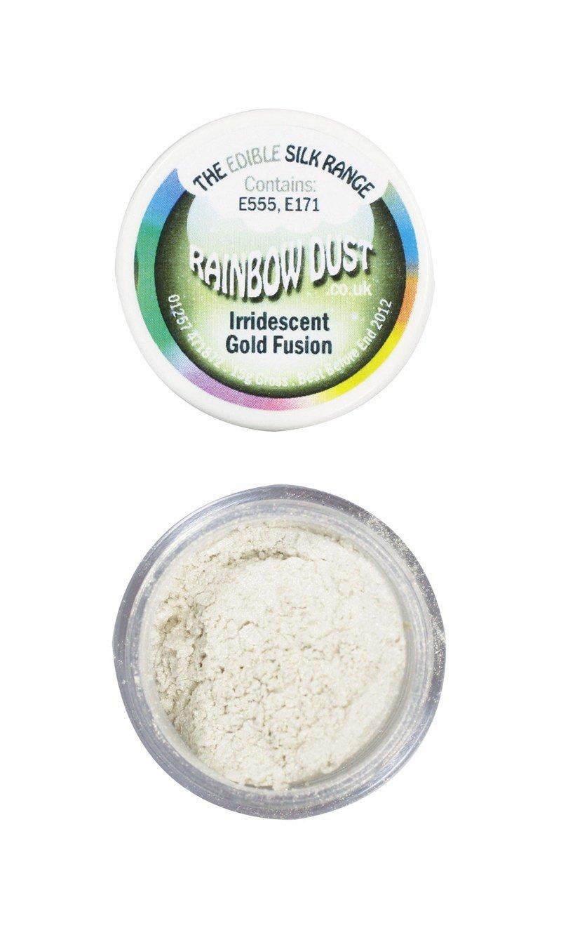 Rainbow Dust - Edible Dust Pearl Iridescent Gold Fusion - Βρώσιμη Σκόνη Περλέ Χρυσό Ιριδίζον