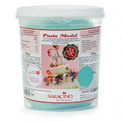 Saracino Modelling Paste 1 kilo -TIFFANY BLUE -Πάστα Μοντελισμού -Μπλε Τίφανι - 1 κιλό