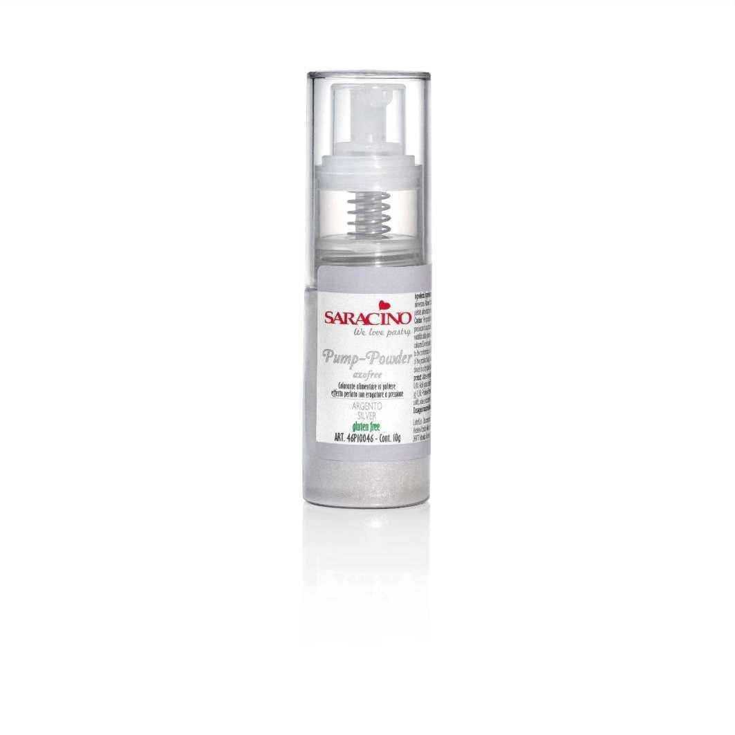 Saracino Pump Spray Edible Glitter Dust 10g -SILVER