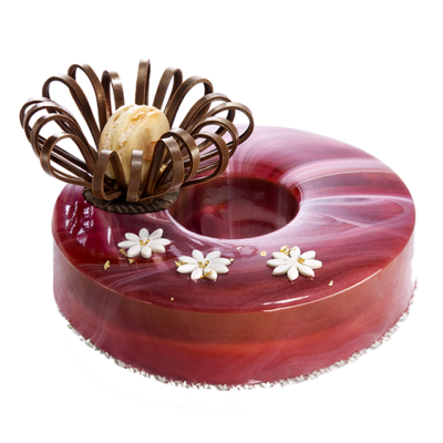 Saracino Strawberry Mirror Glaze 1k -Γλάσο 'Καθρέφτης' Φράουλας -1 κιλό