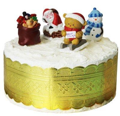 SALE!!! By AH - Luxury Cake Decorating Set of 5 - Πολυτελείς σετ Διακ/σης - Άγιος Βασίλης, Χιονάνθρωπος, Αρκουδάκι, Σάκο με Παιχνιδάκια & Χρυσή Κορδέλα