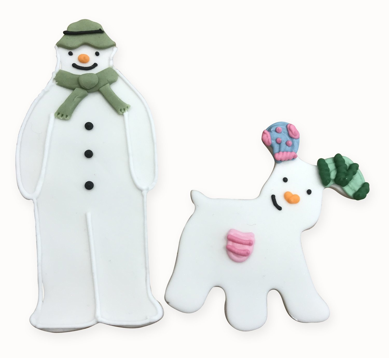 SALE!!! By AH -Cookie Cutter -The Snowman™ & The Snowdog Cookie Cutter Set -Ο Χιονάνθρωπος & Το Χιονοσκυλάκι - Κουπάτ - σετ 2 Τεμαχίων - 12εκ & 8εκ