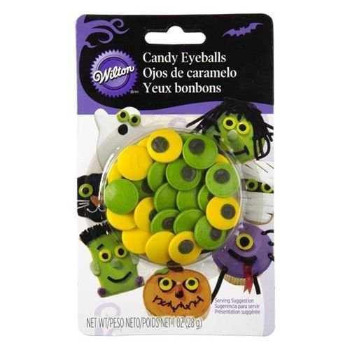 Wilton Halloween Sprinkles -SPOOKY CANDY EYEBALLS -Βρώσιμα μεγάλα μάτια