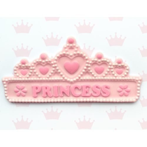 SALE!!! Katy Sue Silicone Mould -PRINCESS TIARA BANNER -Πριγκιπικό Στέμμα