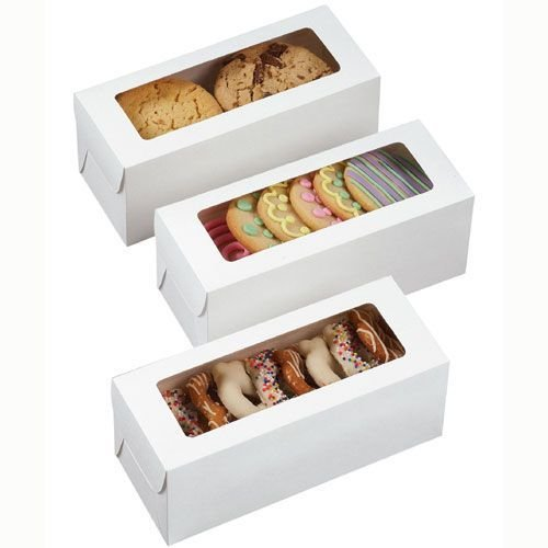 Wilton Boxes -Rectangle Treat Boxes -White pack of 3