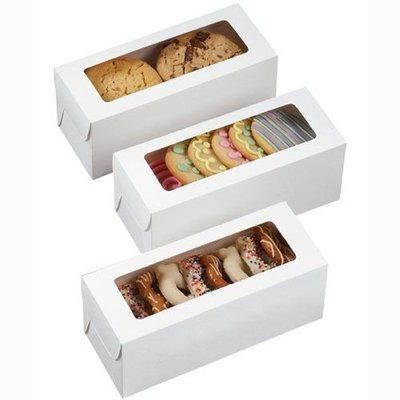 Wilton Boxes -Rectangle Treat Boxes -White pack of 3 λευκά ορθογώνια κουτιά με παράθυρο