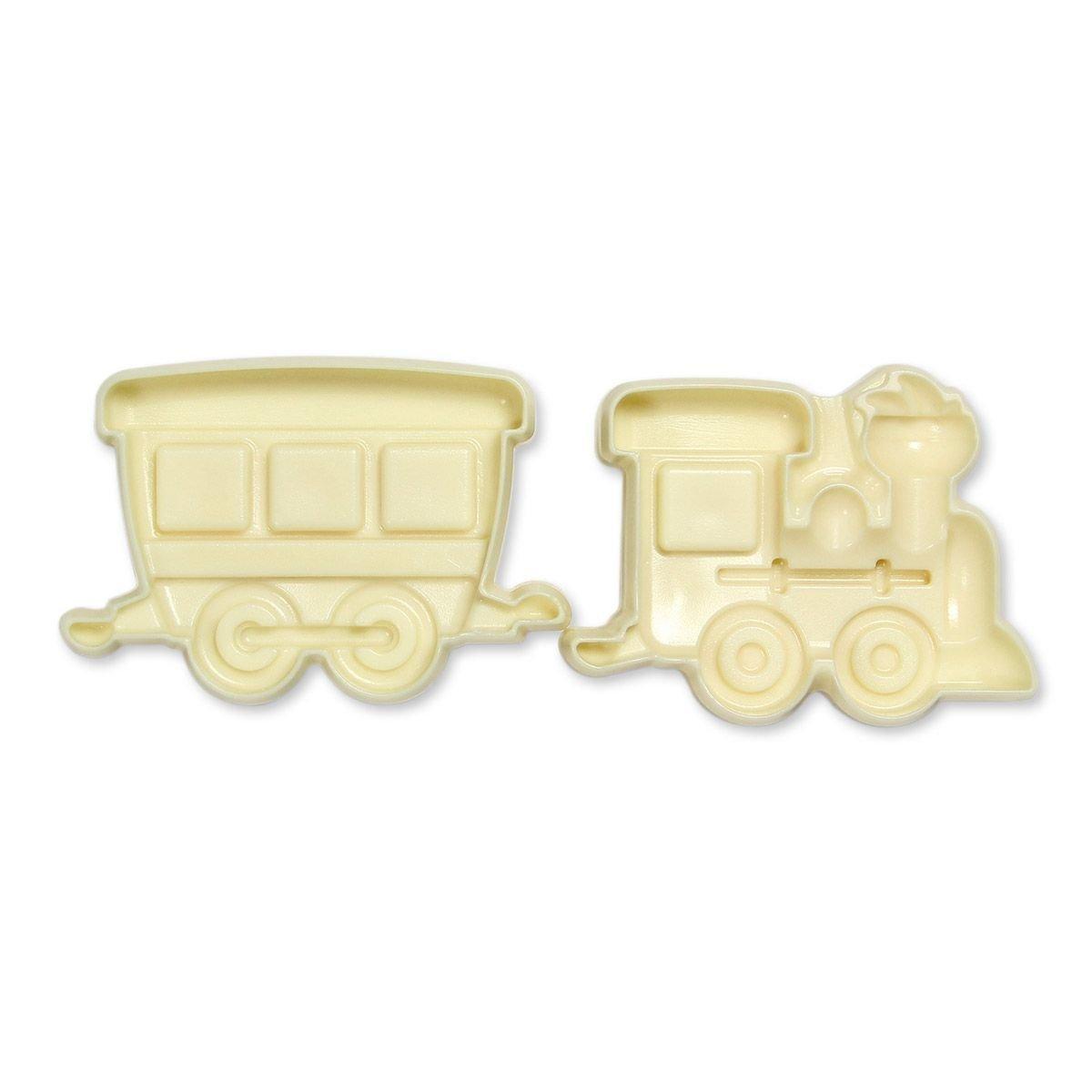 JEM Pop It Mould TRAIN & COACH -Καλούπι Τραίνο με Άμαξα -2 τεμ.