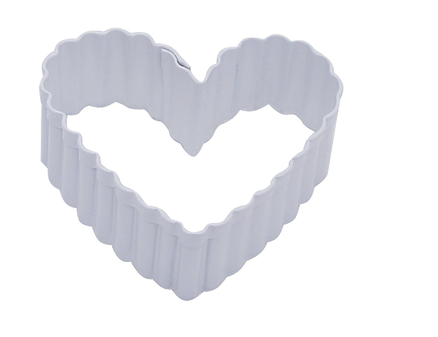 by AH -Cookie Cutter -FLUTED HEART -Κουπάτ Kυματοειδής Καρδιά  6εκ