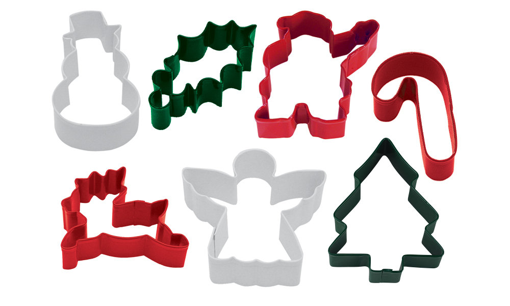 By AH -Set of 7 Cookie Cutters 'CHRISTMAS MIX' -Κουπάτ Χριστουγεννιάτικο Θέμα σετ με 7 τεμ.