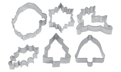SALE!!! By AH -Set of 6 Cookie Cutters 'TRADITIONAL MERRY CHRISTMAS VARIETY' -Κουπάτ Παραδοσιακά Χριστούγεννα -σετ με 6 τεμ.