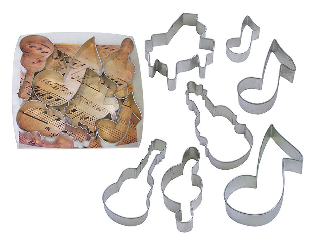 By AH -Set of 7 Cookie Cutters 'MUSIC' -Κουπάτ Μουσικό Θέμα -σετ με 7 τεμ.