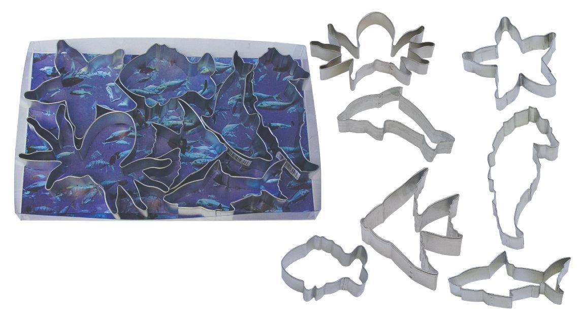 by AH - Cookie Cutter Set of 7 Ocean - Κουπάτ Ωκεανός - σετ 7 Τεμαχίων - 7εκ